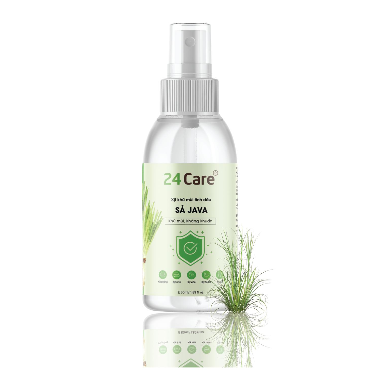 Xịt Phòng Tinh Dầu Hữu Cơ Organic 24Care 50ML – Kháng khuẩn – Khử mùi hôi – Đuổi muỗi – côn trùng – Tạo không gian lãng mạn, hẹn hò – Hương thơm thư giãn