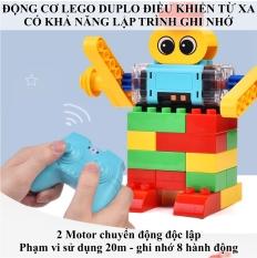 Động cơ lego điều khiển từ xa cỡ Duplo có khả năng GHI NHỚ LẬP TRÌNH – Phạm vi 20M di chuyển 4 chiều, dòng lego education Bảo hành 1:1 2 tháng