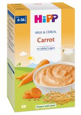 Bột ăn dặm HiPP 250g dinh dưỡng sữa và rau củ (Cà rốt)