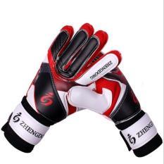 Găng tay thủ môn có xương bảo vệ màu đỏ phối đen siêu bền siêu đẹp