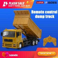 RUICHENG Đồ chơi xe tải kỹ thuật điều khiển từ xa phát nhạc sạc được cho bé trai, chất liệu abs cao cấp chống va đập – INTL