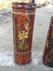 Ống đựng nhang gỗ cao 25cm