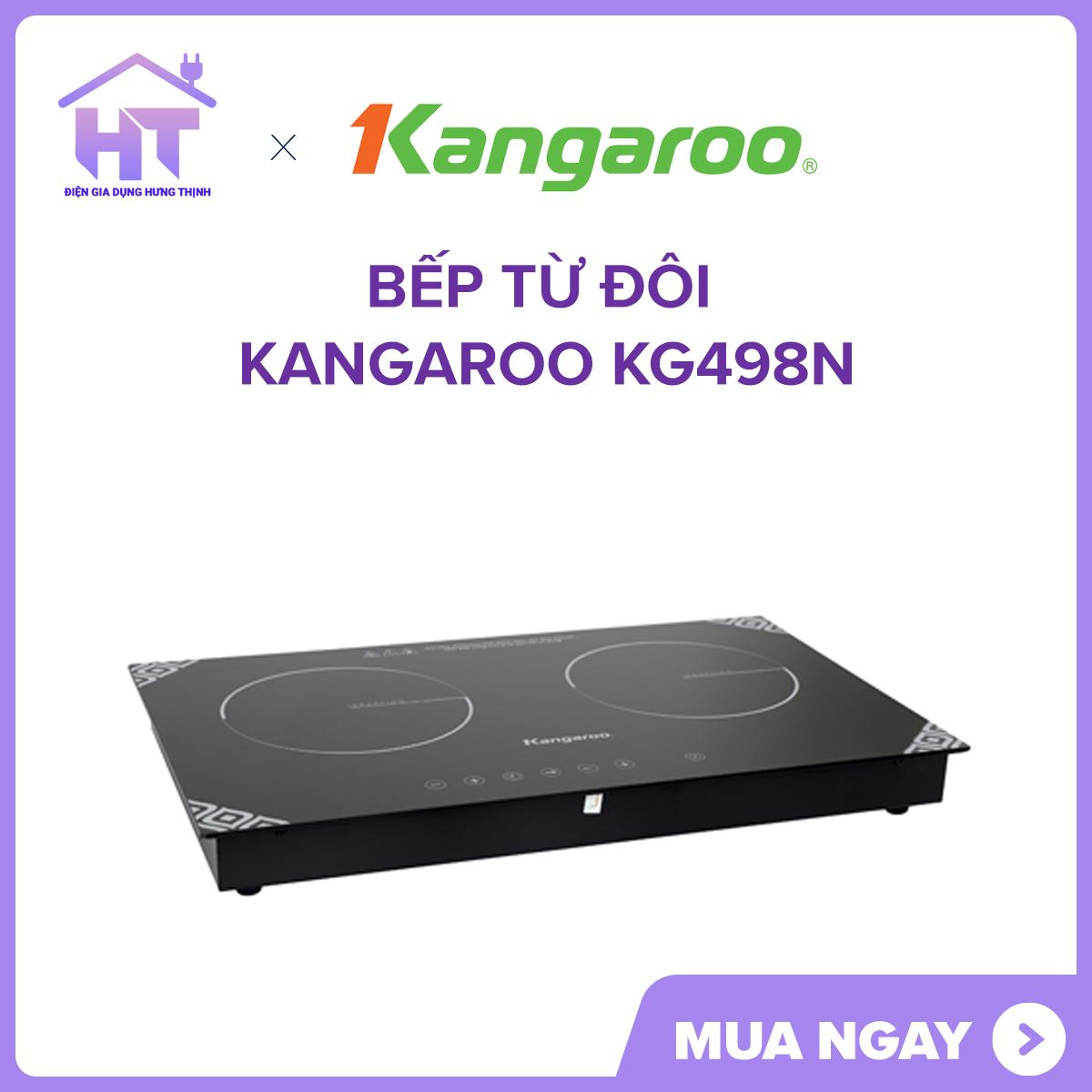 Bếp từ đôi Kangaroo KG498N Bếp từ có 2 lò đun, công suất tổng tới 3100 W, nấu ăn nhanh chóng.