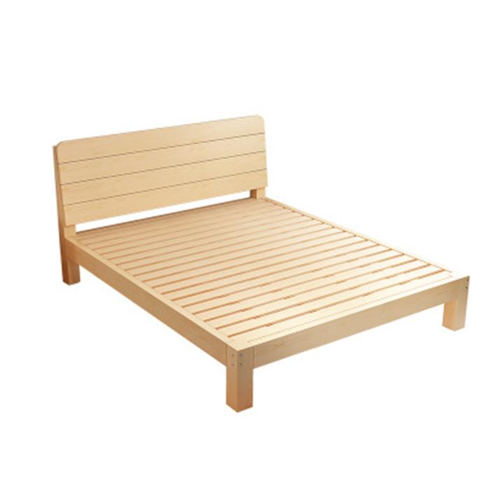 Giường gỗ thông đơn giản hiện đại size 1m8 x 2m GUT004