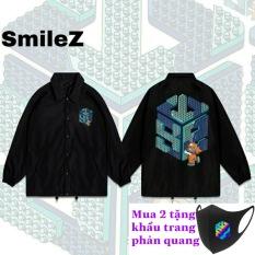 Áo khoác SWE LEGO Jacket nam nữ unisex form rộng cổ bẻ, chất dù 2 lớp in kỹ thuật số siêu đẹp, chống nắng, kháng nước phong cách streetwear