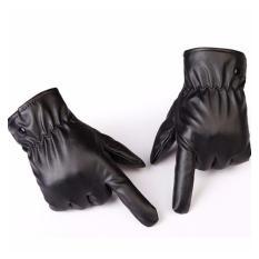 Găng tay da nam nữ cảm ứng lót nỉ phong cách Hàn Quốc