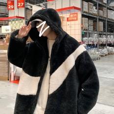 Áo Khoác Lông Cừu Phối Nhung 2 lớp Siêu Ấm Thời Trang Mùa Đông- Kèm Ảnh Thật Khách Chụp