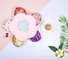 Khay đựng mứt kẹo tự xoay hình cánh hoa thế hệ mới hàng HOT Tết 2019 – Kmart