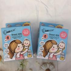 [100 túi] 2 Hộp 50 Túi Trữ Sữa Sunmum Thái Lan Mẫu Mới 2018