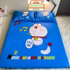 Set ga gối cotton hoạt hình cho bé Cotton Tina – Doraemon Music