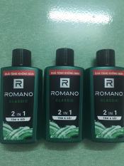 combo 3 chai romano classic tắm và gội 2 trong 1 60g