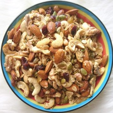 GRANOLA không đường (Ngũ cốc ăn kiêng), ngũ cốc mix hạt dinh dưỡng 6 loại hạt (không yến mạch) – 500gr