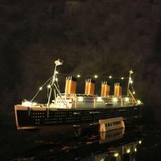 Đồ chơi lắp ráp gỗ 3D Mô hình Tàu R.M.S Titanic – Tặng kèm Đèn LED trang trí