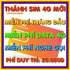 Thánh Sim 4G Vietnamobile mới Miễn phí DATA không giới hạn – Phí gia hạn 20.000đ – Nghe gọi nội mạng miễn phí – Shop Sim Giá Rẻ