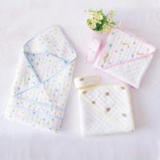 Chăn ủ cho bé sơ sinh trần bông 2 lớp cao cấp KÈM ĐAI, hàng xuất Nhật – C8