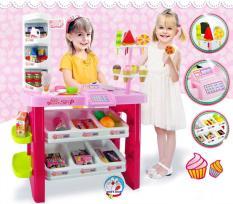 Đồ chơi Cửa hàng siêu thị kẹo kem cỡ đại 668-19, 40 chi tiết, dùng pin, có âm thanh và ánh sáng, kích thước 56x27x76 cm