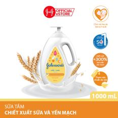 Sữa tắm Johnsons baby milk oat chứa sữa và yến mạch 1000ml (MỚI) – 100977932