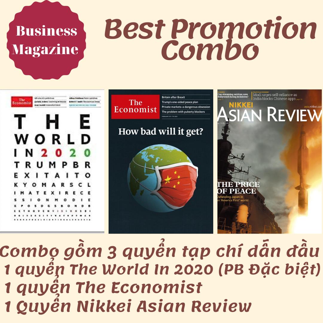 Combo 3 Quyển Tạp Chí The World In 2020, Tạp Chí The Economist, Tạp Chí Nikkei Asian Review