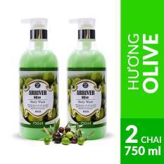 Combo 2 chai sữa tắm chính hãng Hàn Quốc Arriver Body Wash 750ml