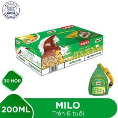 Mua 1 Thùng 30 hộp Nestlé MILO Uống Liền Bữa Sáng – 10 lốc x 3 hộp x 200ml tặng 1 balo đeo chéo