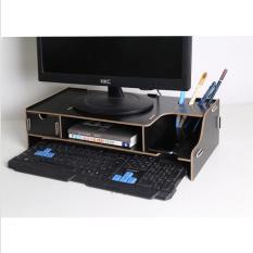 }Kệ Máy tính để bàn bằng gỗ có Ngăn kéo và Ống cắm bút F3