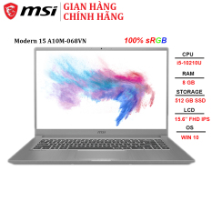 Laptop MSI Modern 15 A10M-068VN i5-10210U | 8GB | 512GB | Intel UHD Graphics | 15.6″ FHD | Win 10