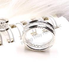 Nhẫn Bạc Nữ Lux (#n96) – Tinh Xảo – Kiểu Dáng Model – Quý Phái – Sang Trọng – Tặng Kèm Khăn Lau Bạc Chuyên Dụng
