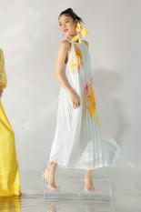 Đầm xếp ly cổ yếm nữ IVY moda MS 41M6335