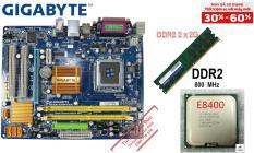 Combo CVP4 AsusGiga G31 Cpu E8400 Ram 4G tốc độ Quạt Fe đầy đủ