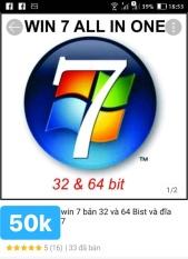 đĩa cài win 7 32 và 64b trong 1 đĩa tự activer