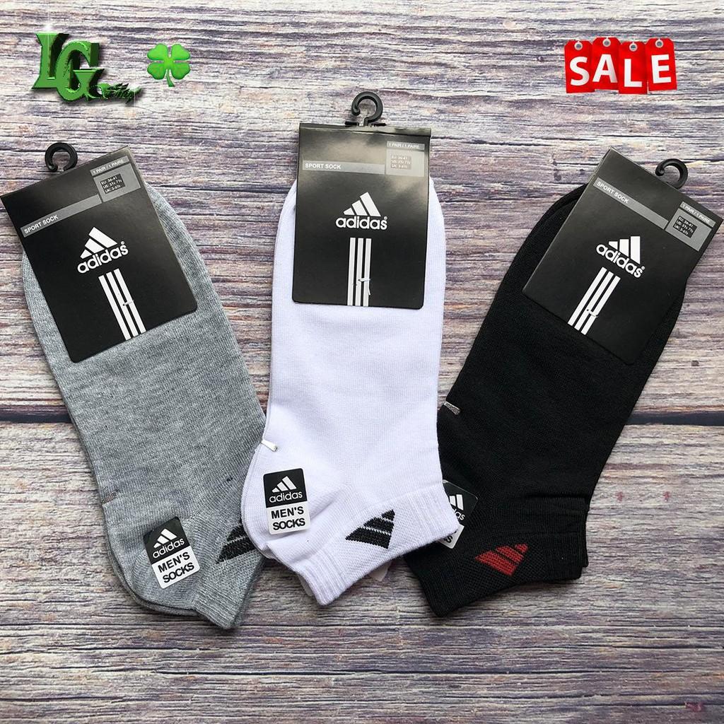 Combo 10 đôi tất vớ nam Adidas cổ ngắn khử mùi hổi chân, chất đẹp giá rẻ