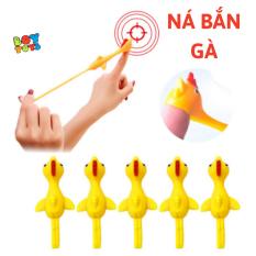 Set 5 đồ chơi giải trí hình chú gà cao su đàn hồi, gà cao su dính tường vui nhộn cho bé thỏa sức vui chơi
