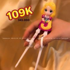Đũa tập ăn hình công chúa tóc dài Rapunzel nổi 3D cho trẻ em hàng Disney – DP2037