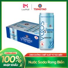 Thùng 24 lon soda Tsingtao rong biển – Thức uống dành cho sức khỏe