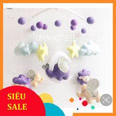 [ Handmade Cao Cấp] Đồ chơi treo cũi hình cừu tím dễ thương siêu xinh cho trẻ sơ sinh 0 – 6 tháng kích thích thị giác, phản xạ cho bé
