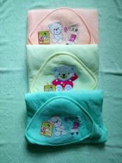 Choàng ủ cho trẻ nhỏ hiệu Vườn Hồng có nón và nút bấm tiện lợi