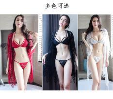 Full Set đồ lót ren + áo choàng ren cao cấp B012