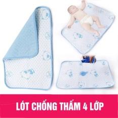 Miếng lót chống thấm 4 lớp thay bỉm cho bé sơ sinh siêu mềm