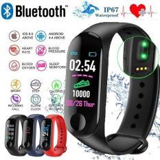 Vòng đeo tay thông minh m3,Vòng đeo tay thông minh smart band M3 giá rẻ hơn honor, M4,M4a,miband 2,3,4 đo nhịp tim kết nối Bluetooth,Đồng hồ vòng đeo tay thông minh,vòng theo dõi sức khỏe M3 (Nhiều màu)