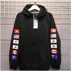 Áo hoodie nam nữ form rộng unisex in hình cờ