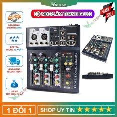 Bộ trộn Mixer Âm Thanh F4 bản pro USB Bluetooth cao cấp – mixer hát live – thu âm – karaoke giá rẻ