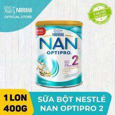 [FREESHIP 30K HCM&HN ĐƠN 399K] Sữa bột Nestle NAN OPTIPRO 2 400g cho trẻ từ 6-12 tháng tuổi giúp trẻ dễ tiêu hóa tăng cường sức đề kháng và tăng cân khỏe mạnh
