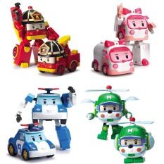 [HCM]Bộ 4 xe Robocar poli biến hình siêu dễ thương nhựa tốt