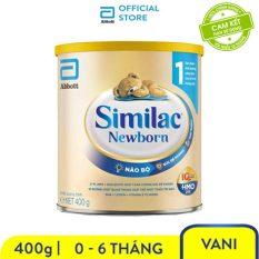 Sữa bột Similac Newborn Eye-Q 400g Gold Label bé từ 0 – 6 tháng bổ sung chất dinh dưỡng phát triển não bộ – Giới hạn 5 sản phẩm/khách hàng