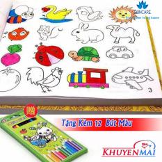 Sách tâp tô , Sách tập tô cho bé, Sách tập tô màu cho bé – Sách tập tô màu theo hình vẽ tặng kèm 12 bút chì màu cho bé 1 – 3 tuổi (5000 hình vẽ)