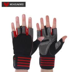 Găng tay tập gym có quấn cổ tay VEASAERS – Găng tay thể hình – Găng tay tập gym 2 trong 1