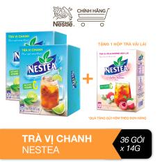 [Tặng 1 hộp trà vải lài] Combo 2 hộp trà vị chanh Nestea hộp (18 gói x 14g)
