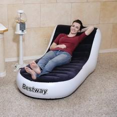 [ TẶNG KÈM BƠI HƠI ] Ghế lười hơi Bestway, Lazy flocking inflatable sofa êm ái chất liệu cao cấp (165x84x79)cm bảo hành 12 tháng chỉ có tại Technology Store
