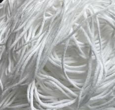 dây thun dạng ống 3 li màu trắng (30 mét)