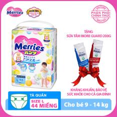 Tã/bỉm quần Merries size L – 44 miếng (Cho bé 9 – 14kg)